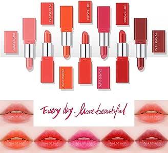squarex - Juego de pintalabios de 7 días (caja multicolor, pintalabios, brillo de labios, delineadores de labios, regalo para niña), materiales sintéticos, 7PCS, medium: Amazon.es: Hogar