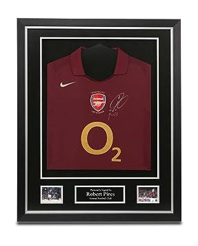 7182aeb59fb Robert Pires Signed Shirt Framed Arsenal 05 06 Jersey Autograph Memorabilia  COA