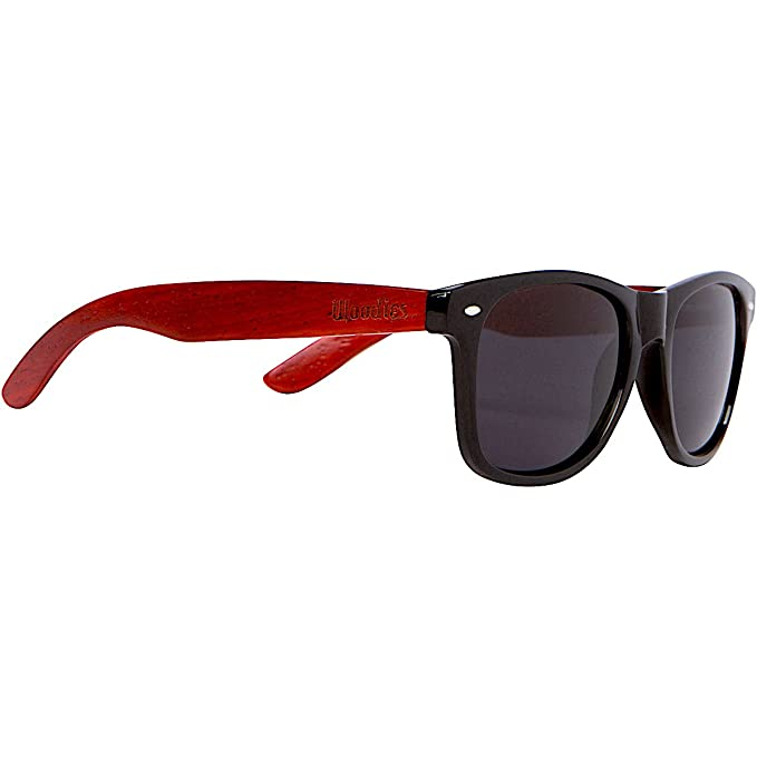 Amazon.com: Woodies Rose Madera anteojos de sol con lentes ...