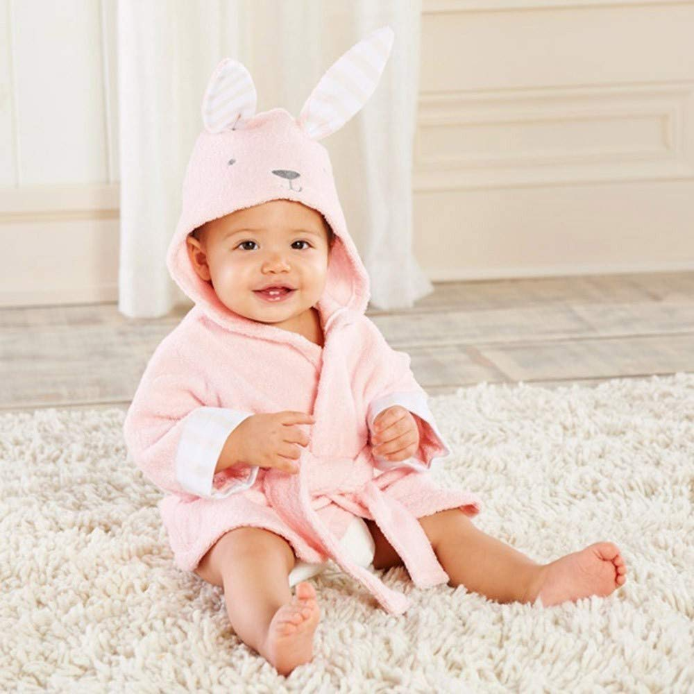 OverDose Damen Baby Jungen M/ädchen Kinder Bademantel Cartoon Tiere Nette Weiche Licht Saugf/ähige Kapuze Handtuch Pyjamas Kleid