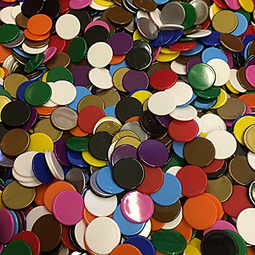 500 Mixed Counters - 22mm plastic opaque 10 colours