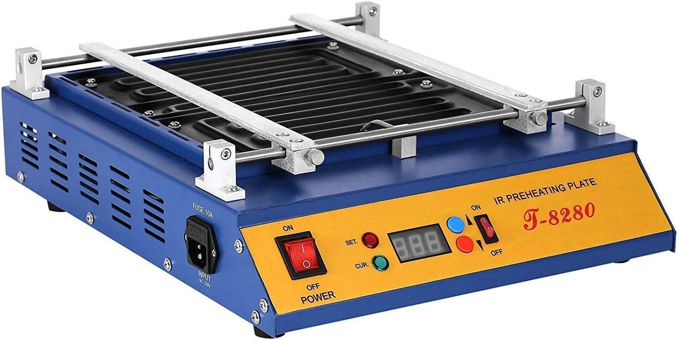 L.HPT 1600W IR Preheating Oven T-8280 Rework Station Infrared Welder Warm up 0~450℃ Preheater 16x14 inch Infrared Preheating Station Hot Plate Preheating Oven Soldering Station Welder (T8280)