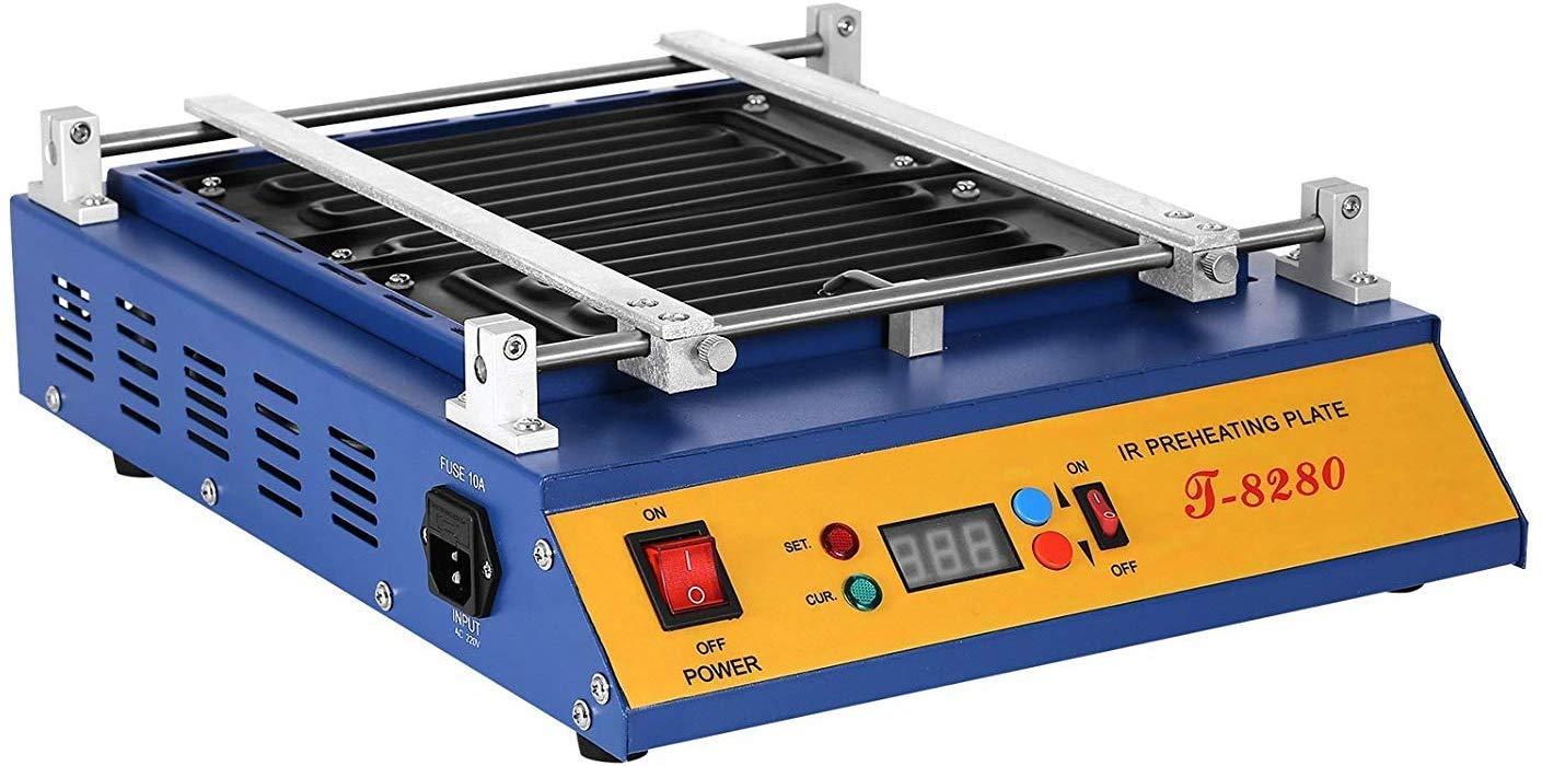 ZGYQGOO 1600W IR Preheating Oven T-8280 Rework Station Infrared Welder Warm up 0~450℃ Preheater 16x14 inch Infrared Preheating Station Hot Plate Preheating Oven Soldering Station Welder (T8280)
