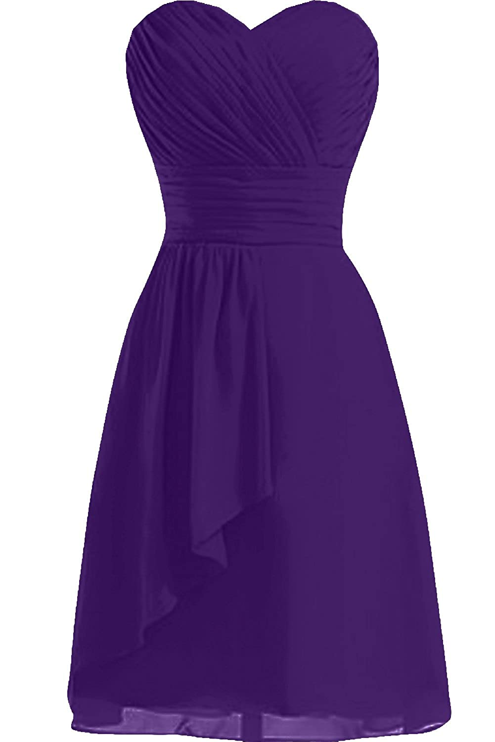 Sunvary Simple Cocktail Homecoming Gowns Short Bridesmaid Dress Chiffon