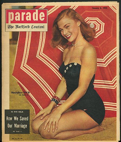 PARADE Hourglass swimsuits Eisenhower 1/4 1953