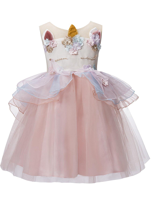 Amazon Com Misshow Baby Girls Flower Unicorn Costume Cosplay