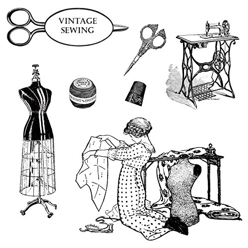 (Home Comforts Laminated Poster Vintage Sewing Clipart Illustrations Poster Print 24x 36)