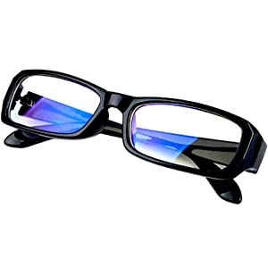 [FREESE] 伊達メガネ ブルーライトカット PCメガネ デザイナーズ ファッション 伊達眼鏡 メンズ 黒縁 スクエア 【福岡発のアイウェアブランドFREESE】(ブライトブラック)