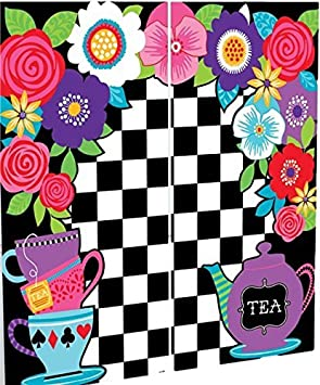 Large Photo Booth Selfie Station Backdrop Mad Hatter Alice In