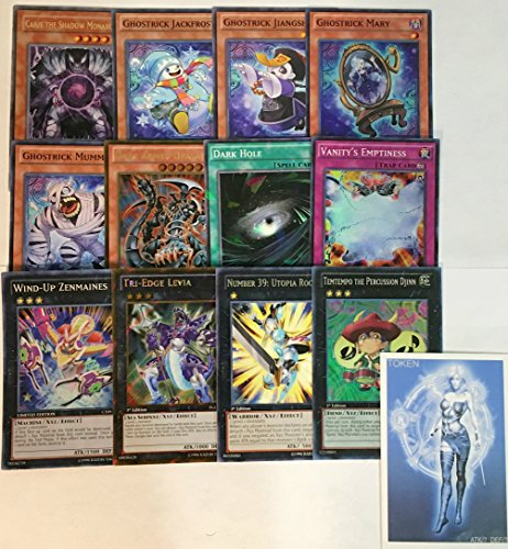 YUGIOH Tournament Ready Ghostrick Deck with Complete Extra Deck and exclusive Phantasm Gaming Token + a Deck Box & 100 Sleeves