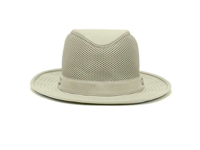 Tilley TM10B Flat Top Cotton Mesh Hat - Khaki w  Olive Underbrim - 7 2e7c282d1c01