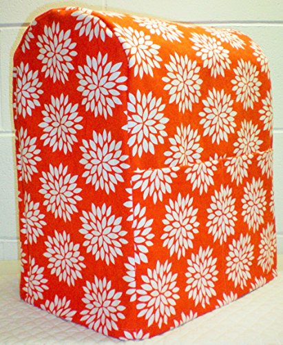 Orange Floral Starburst Kitchenaid Lift