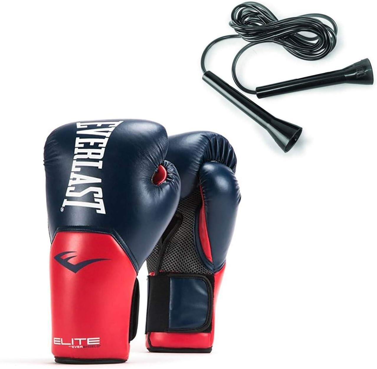 EVERLAST Pro Style ELITE MUAY THAI BOXING Training Gloves 10 oz Navy Blk Blue