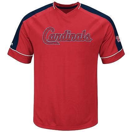 uk availability 287fc fd3f2 Amazon.com : Majestic MLB St. Louis Cardinals Mens Lead ...