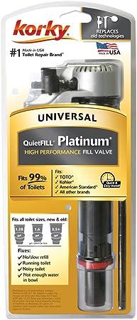 KORKY QuietFill Platinum Toilet Fill Valve 528MP 2-Pack NEW