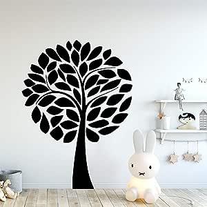 Etiqueta engomada de la pared del vinilo del vivero del árbol de dibujos animados para la habitación de los niños Diy decoración del hogar etiqueta de arte de la pared a prueba