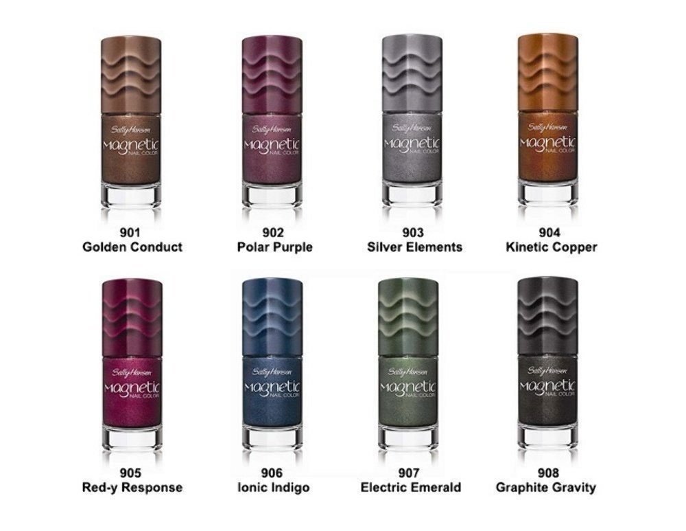 Amazon.com : Sally Hansen Magnetic Nail Polish 8-Color Collection ...