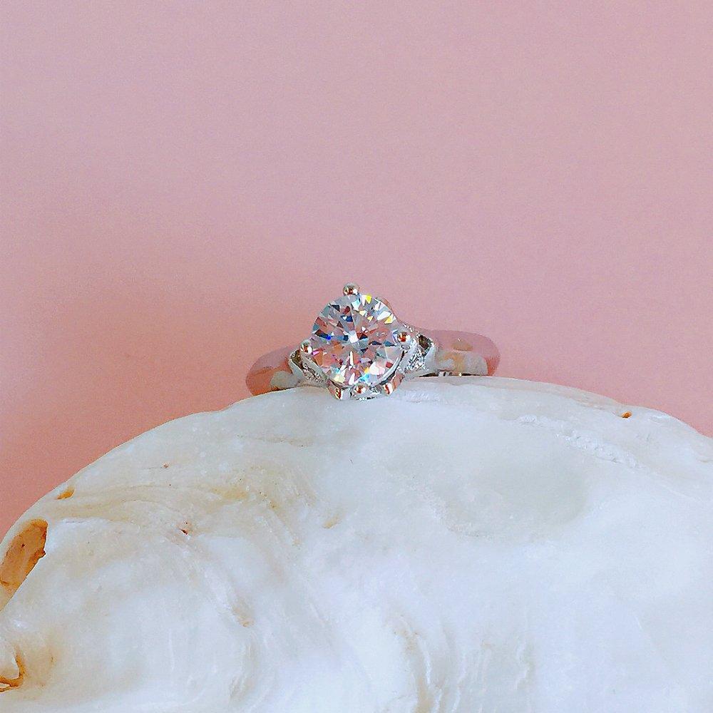 Amazon.com: BeFab 6mm Cubic Zirconia Round Solitaire Wedding ...