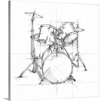 Amazon Com Greatbigcanvas Gallery Wrapped Canvas Entitled Drum