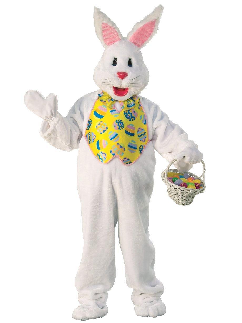 Rubie's Easter Bunny Costume Plush White Full Body Mascot (X Large)