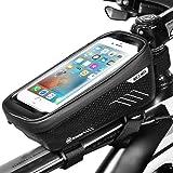 ENONEO Borsa Telaio Bici Borsa Bici Cellulare Impermeabile con Sensibile Touchscreen Borsa Bicicletta per iPhone 8/X/XR/Smasung S8/S9 Porta Telefono MTB Manubrio Smartphone 6.6 Pollici
