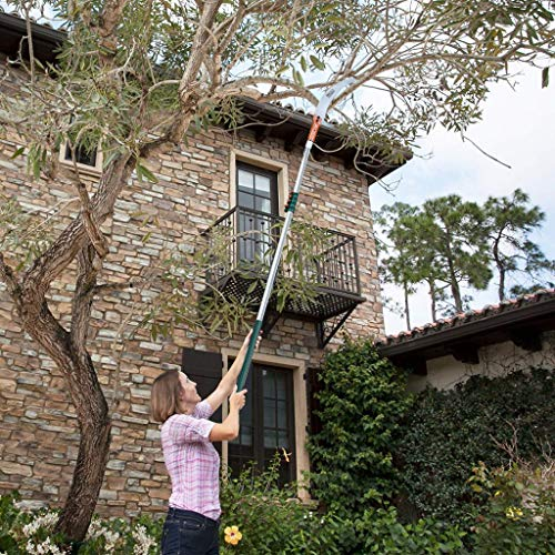 EZDAILY Tree Pruner Pole Saw Manual Extendable Long Tree Pruner Extendable,Pole Pruning Saw 18ft