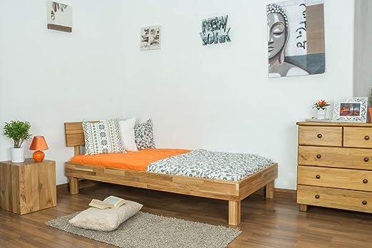 Cama 100 x 200 cm madera de roble barnizada: Amazon.es: Bricolaje y herramientas