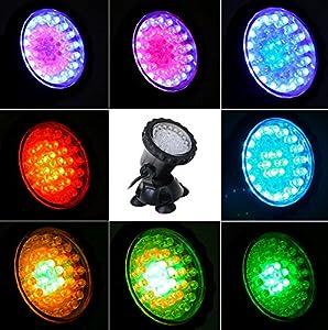 GEEDIAR Aquarium Spot Light Unterwasserleuchte RGB LED Aquarien Licht Lampe  Für Fisch Tank Innen Pool Innen Brunnen Beleuchtung Deko : Schöner  Schaueffekt.