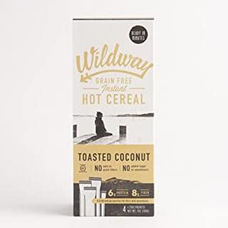 product image for Wildway, Grain Free, Hot Cereal, Toasted Coconut, Pack of 4, Size - 7 OZ, Quantity - 1 Case