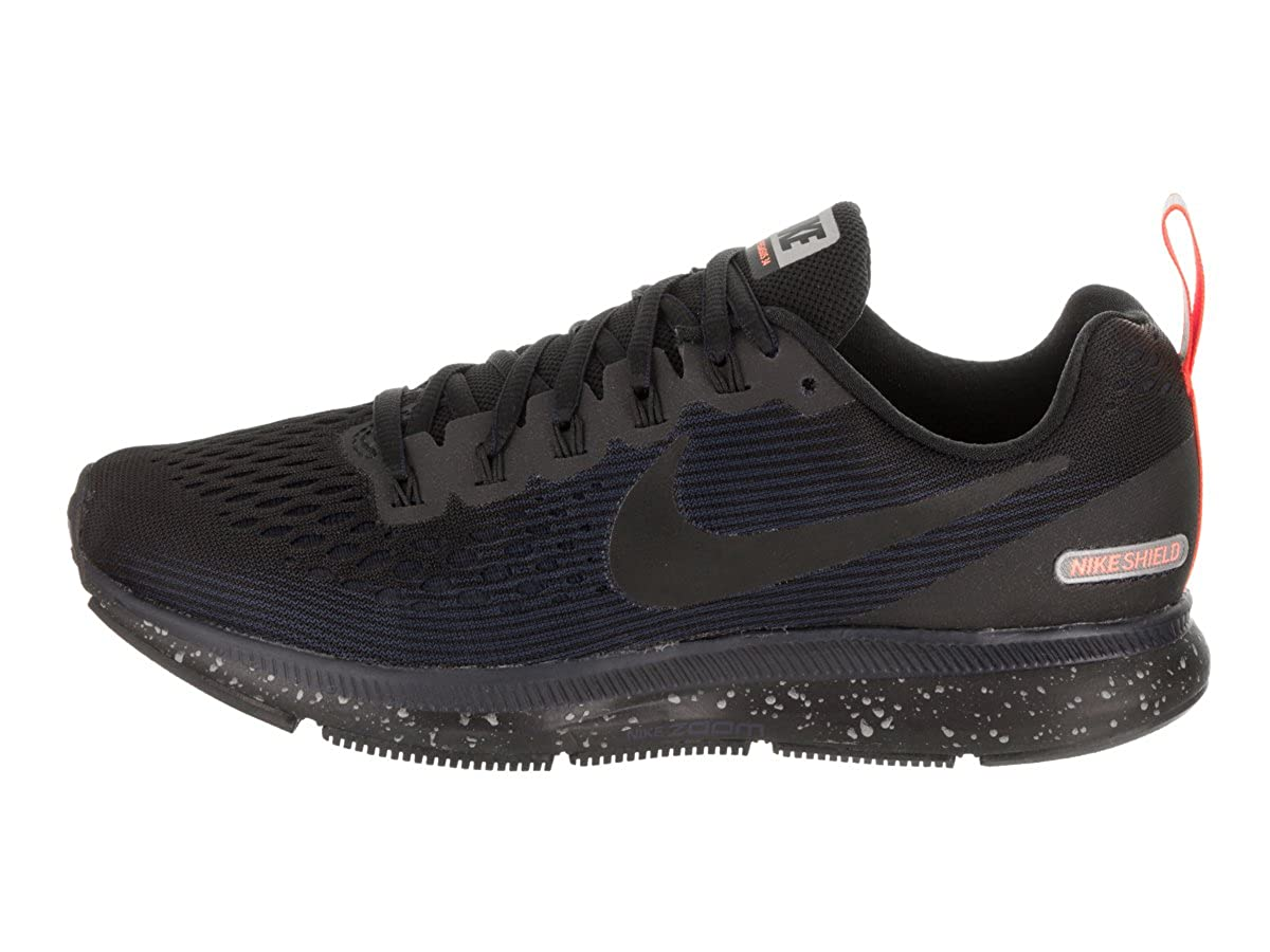 separation shoes 9a542 26b29 Nike Women's Air Zoom Pegasus 34 Running Shield Shoe  Black/Black-Black-Obsidian 8.5