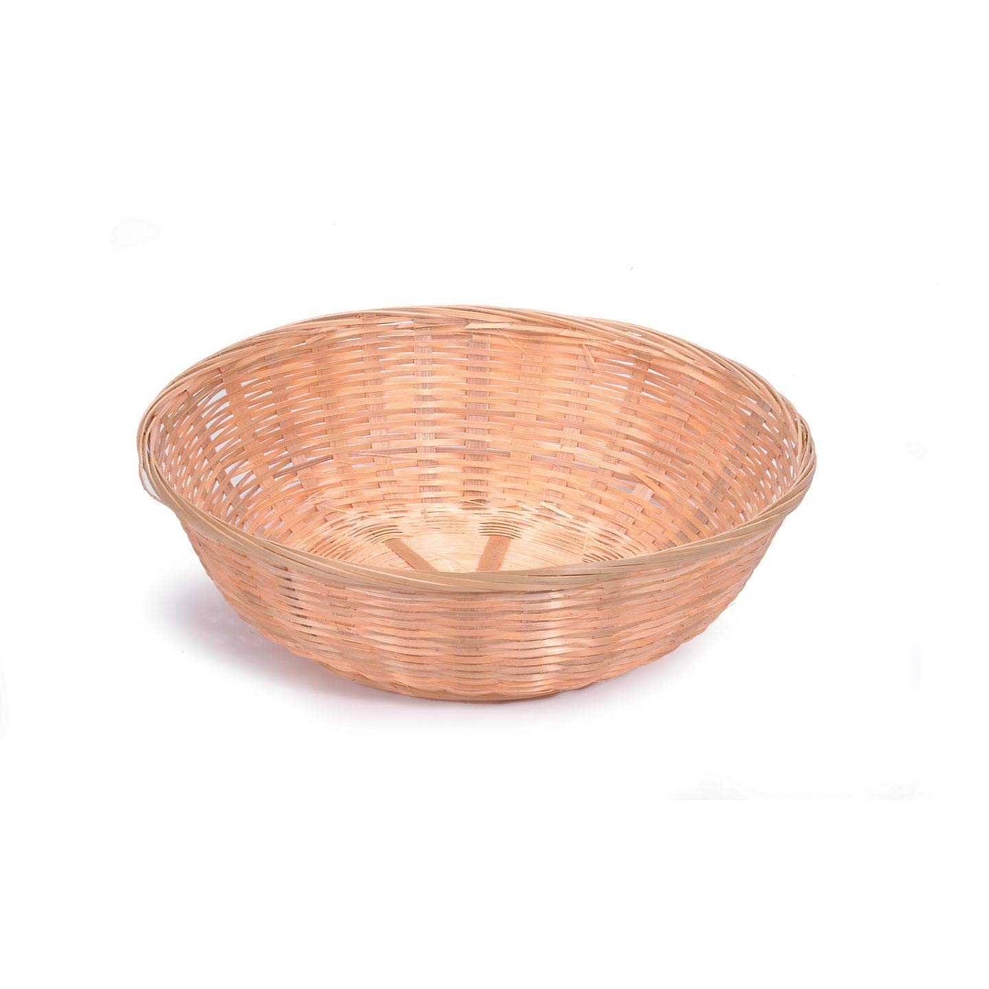 Bulk Buy: Darice DIY Crafts Bamboo Bread Basket Round 12 x 3.5 inches (12-Pack) 2858-54 Inc.