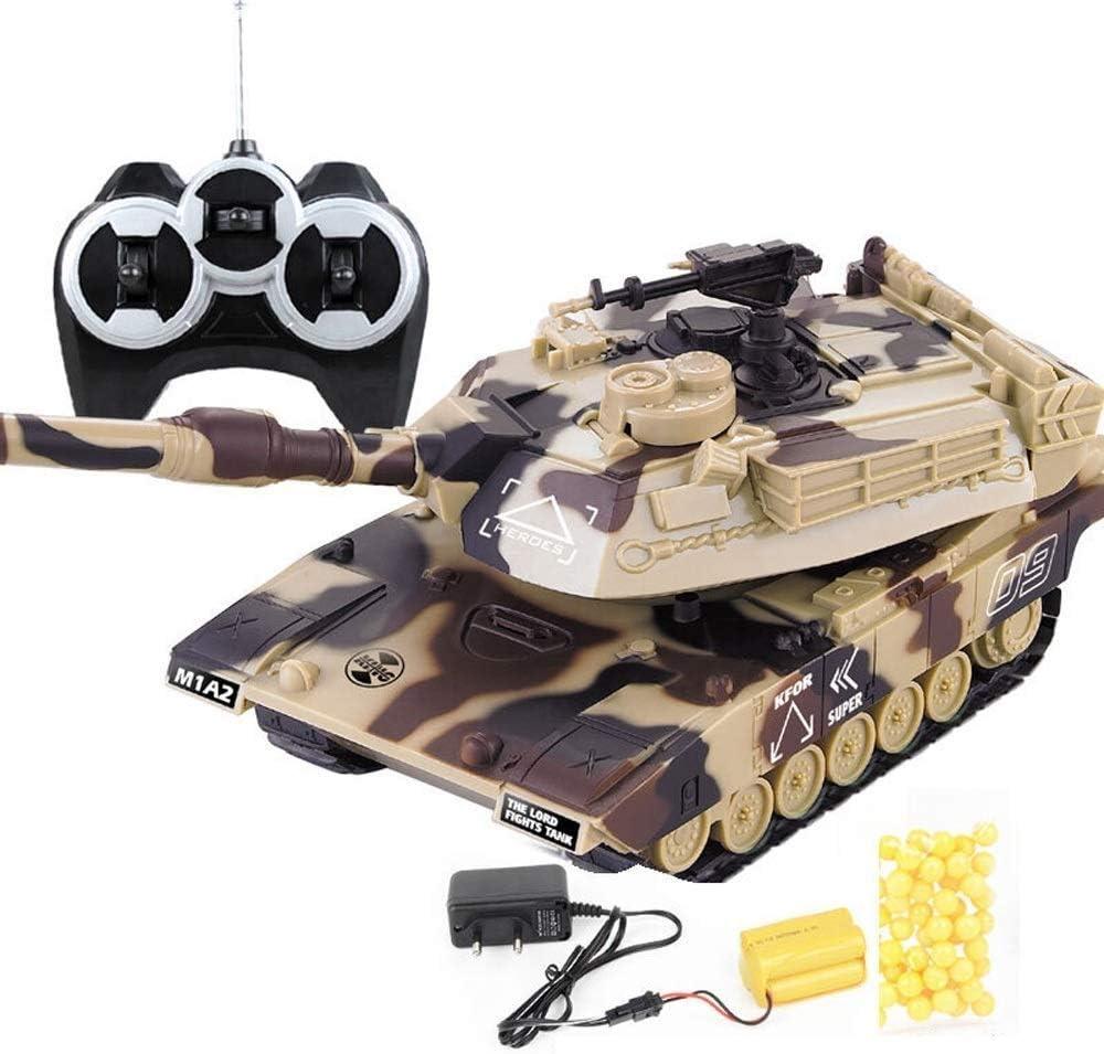 IBalody Simulación alemana 2.4GHz RC Batalla principal Tanques militares Crawler Vehículo Tanque Panzer Sonido de tigre Torreta giratoria Retroceso Acción cuando la artillería de cañón dispara El mejo