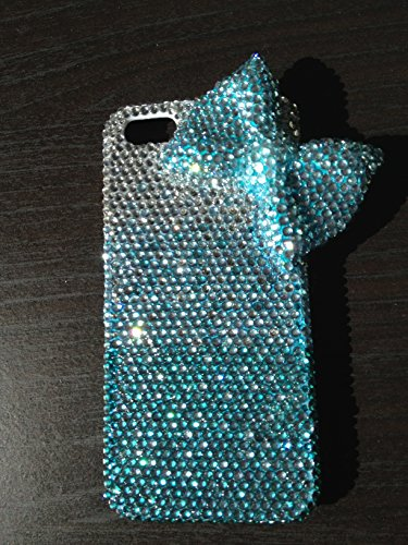 Bling Bling 3D turquoise bow knot ribbon iPhone 6 6S (4.7