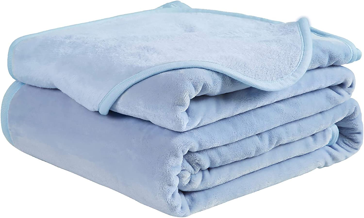 Soft Throw Blanket All Season Winter Warm Microplush Lightweight Thermal Fleece Blankets for Couch Bed Sofa,50x61 Inches,White: Kitchen & Dining