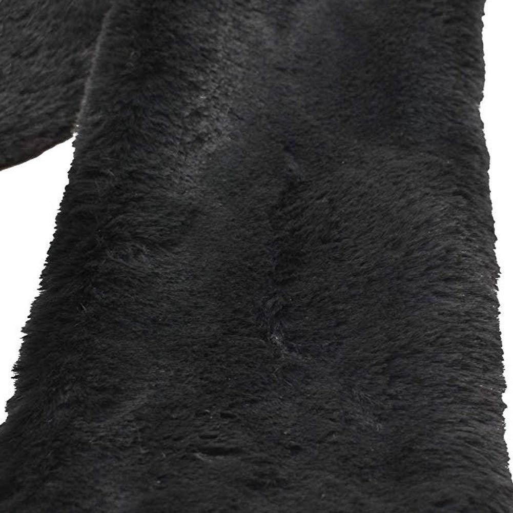 Soft Rabbit Fur Pull Through Sciarpa Winter Neck Warmer Wrap lavorato a maglia fazzoletto da collo Winter Addensare peluche solido scialle a collo lungo Wraps Candy Color