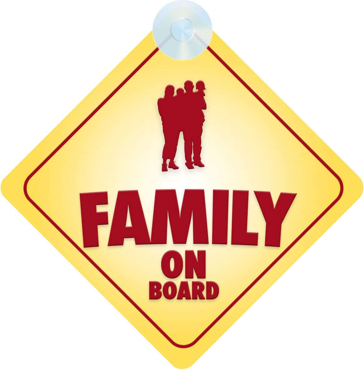 Family on Board Car Sign for Children//Baby Family Safety Non Personalised Character Theme
