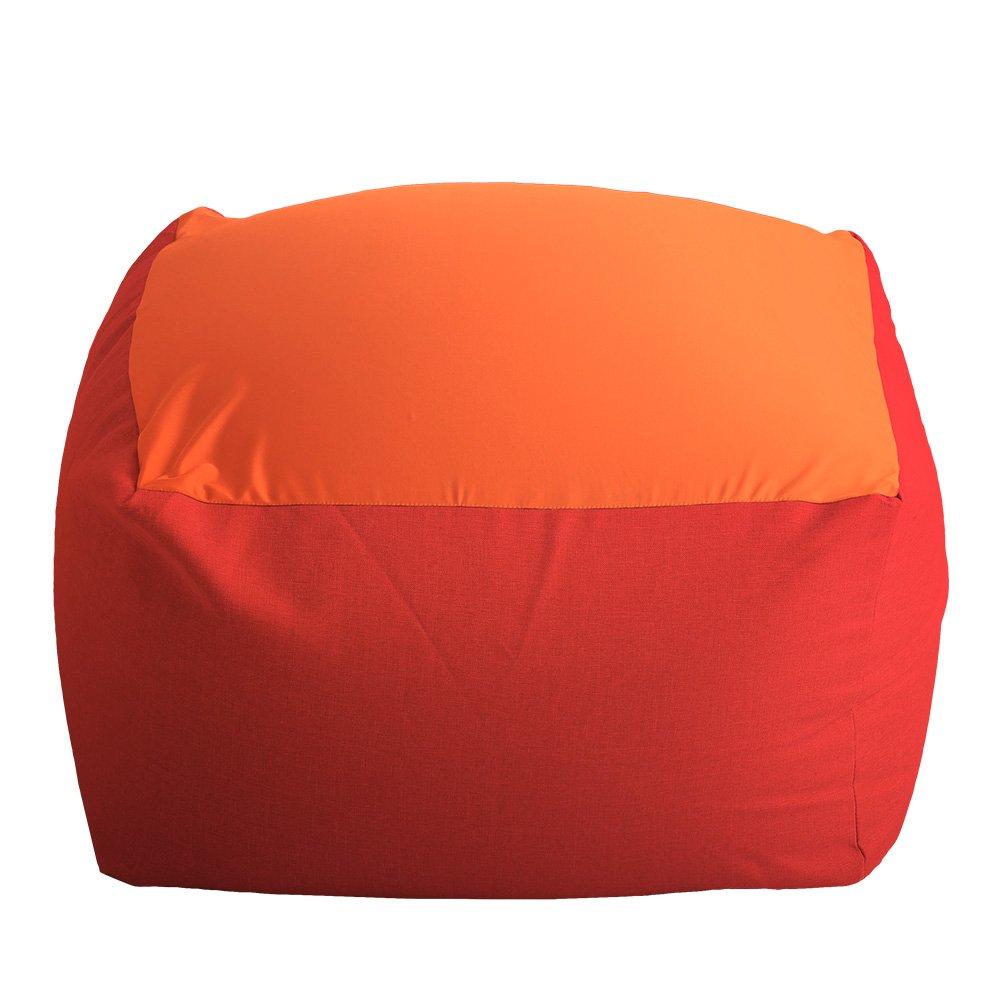 特大のキューブ型ビーズクッション日本製(XLサイズ)カバーがお家で洗えます | Guimauve-ギモーブ- レッド B073PTD6L2 レッド レッド