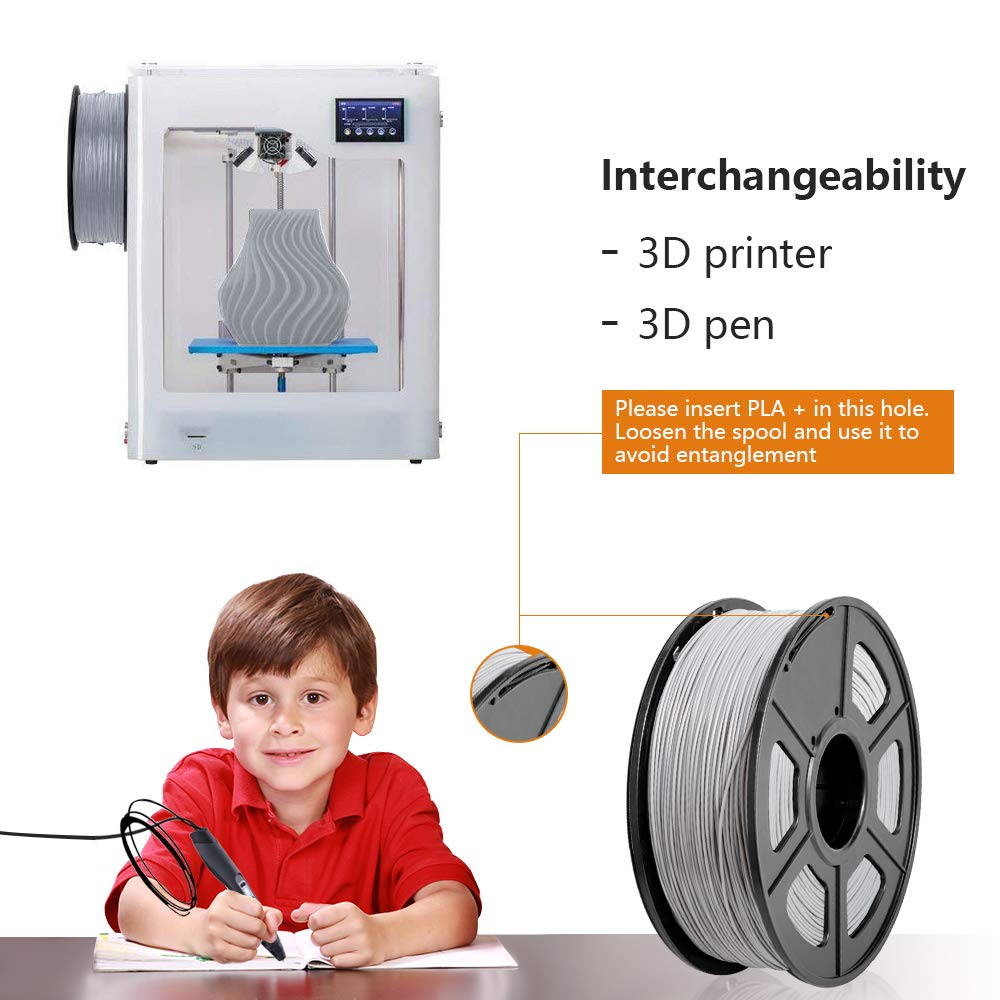 SUNLU 3D filament 1.75 PLA+ Filament 1.75mm Coffee Orange Skin 3KG PLA+ Filament 0.02mm for 3D Printer 3D Pens