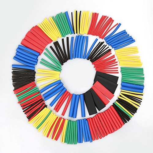 560PCS Tubo termorretráctil 2: 1, juego de cable de alambre de cable eléctrico Eventronic Surtido Aislamiento eléctrico Kit de tubo termorretráctil con caja (5 colores /12 tamaños)
