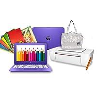 """laptop hp + impresora HP HP Stream Púrpura 11-y020wm 1.6GHz N3060 11.6"""" 4gb RAM 32 gb eMMc Púrpura windows 10 + impresora HP 1115 Inyección de tinta a Color + mochila backpack + útiles de regalo (Reacondicionado / Certified Refurbished)"""