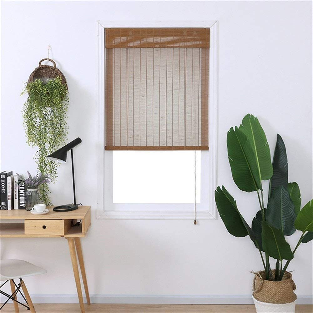 PUZZLEYM Bamboo Roller Blind Blackout Sunscreen Cortina, Premium Privacy Persianas de Ventana Patio Gazebo Pergola Garden Toldos Se Puede Personalizar en Diferentes tamaños. (Size : W 120*H 260cm): Amazon.es: Hogar