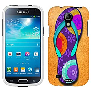 Samsung Galaxy S4 Mini Flip Flop - Flowers on Purple Case