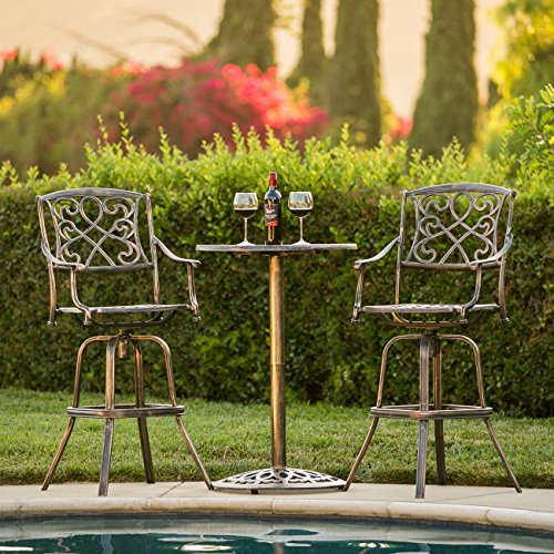 Best Choice Products Outdoor Patio 3-Piece Cast Aluminum Bistro Set, Table and Chairs Review