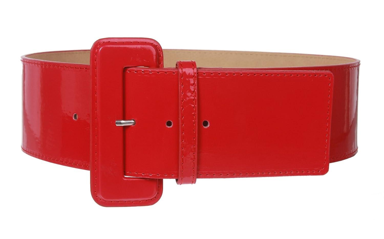 beltiscool Women's High Waist Wide Plain Leather Belt 6072:0100:BF00-$P