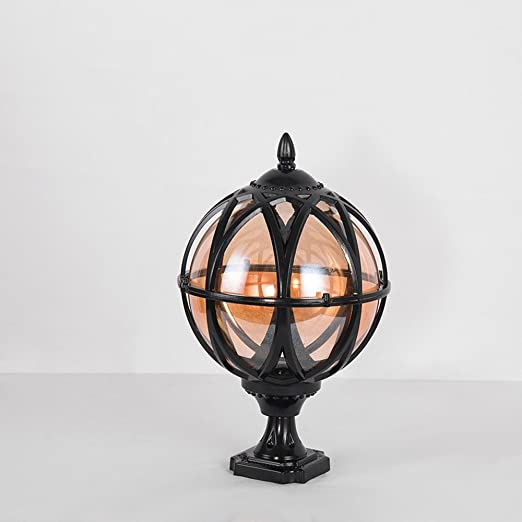 Rustic Country Lighting To Noilyn Outdoor Aluminum Globe Landscape Lighting Fixture Luxury European Vintage Rustic Country Pillar Pole Lamp