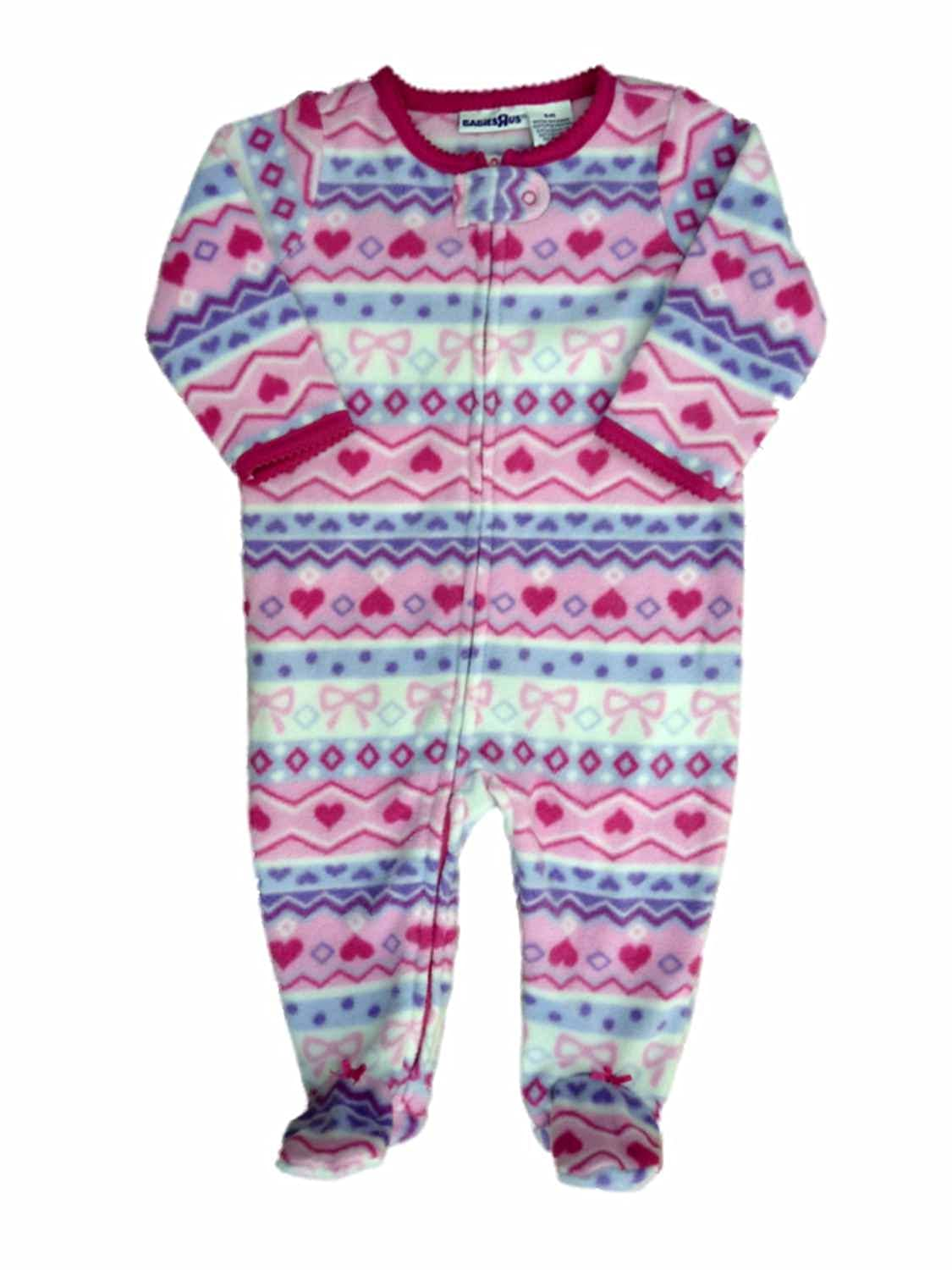 b4a1472f8d Amazon.com  Babies R Us Infant Girls Nordic Pink Blanket Sleeper Footed  Pajamas 6m  Clothing