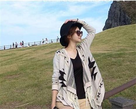 YiLianDa Mujeres Cardigan Manga Larga Irregular Jerseys Sudadera Chaqueta Blusa Outwear Tops con Flecos para Mujer Casual: Amazon.es: Ropa y accesorios