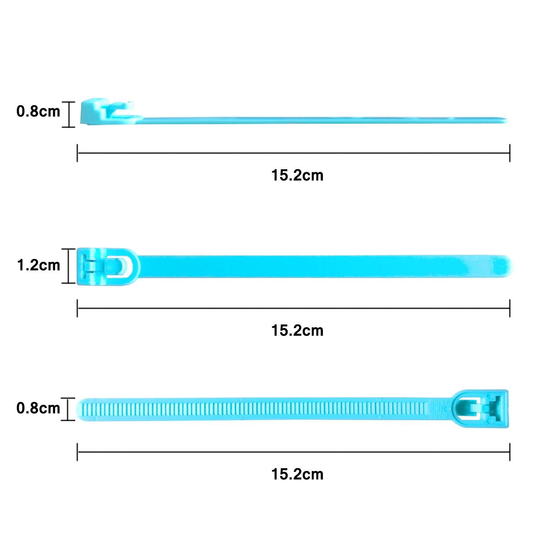 Noir Lot de 50 Attaches de C/âble R/éutilisables Canwn Nylon Ultra R/ésistant Serre C/âble Flexible Zip Cable Ties avec Slipknot