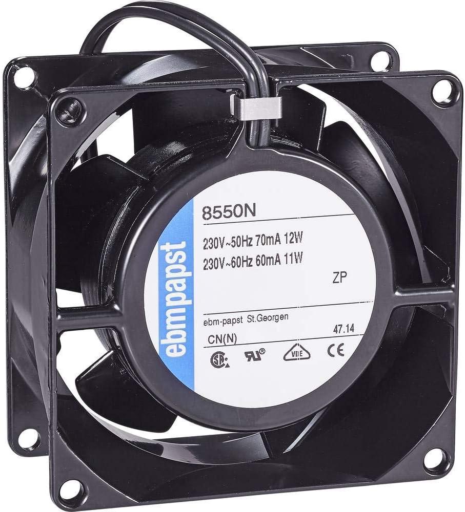 ebm-papst 8550 N - Ventilador de PC (Universal, Ventilador, 2700 RPM, 30 dB, 50 m³/h, Negro)