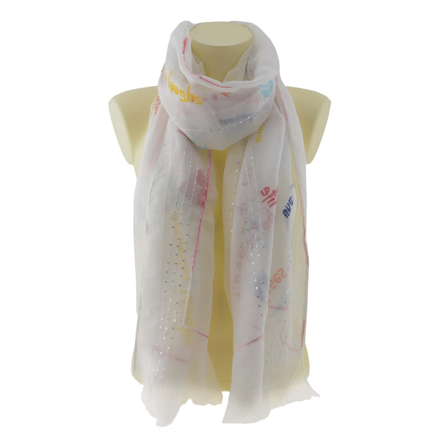 Desigual Foulard 18SAWW33 Dites moi Double Rectangle